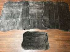 ROMANY WASHABLES NEW CORINA DESIGN SETS OF4 MATS XL SIZES 100X140CM CHARCOAL RUG